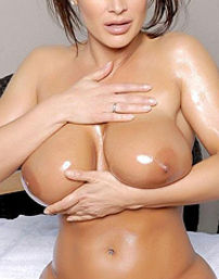 Lisa Ann Oils Up Her Big Boobies
